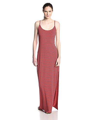 (Splendid Women's Always Stripe Tank Maxi Dress, Coral Pink, X-Small)