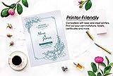 White Shimmer Paper - 100-Pack Metallic Cardstock
