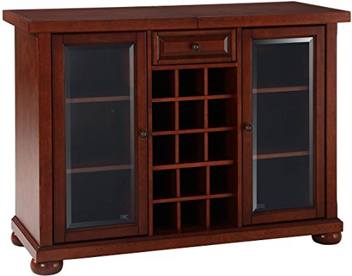 Crosley Furniture Alexandria Sliding Top Bar Cabinet - Vintage Mahogany ()