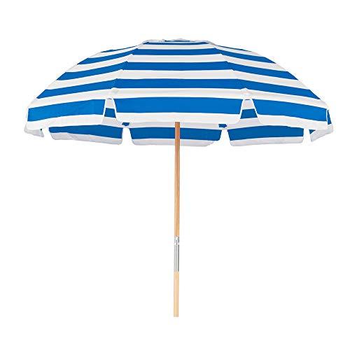 7.5 ft. Fiberglass Commercial Grade Beach Umbrella with Ashwood Pole/Olefin Fabric/Carry Bag ()