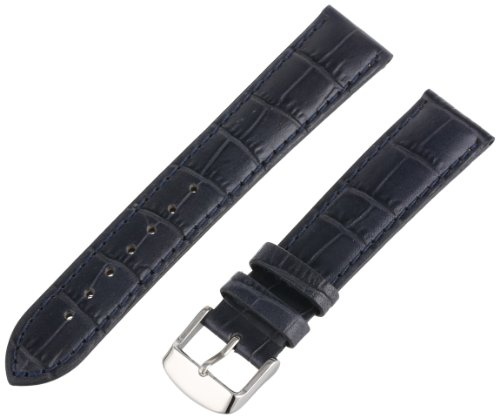 Hadley-Roma Men's MSM898RF-200 20-mm Blue Alligator Grain Leather Watch Strap