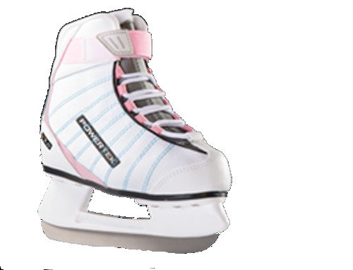 V5.0Tek Edge Ladies Figure Skates White/Pink (JR3)