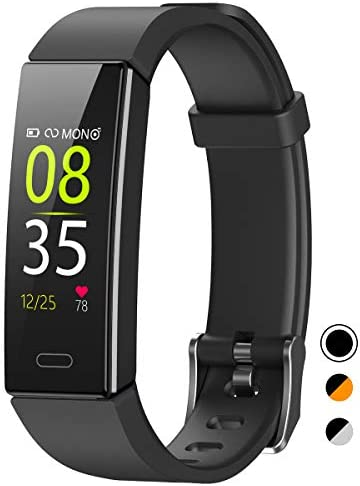 QOOGOT Fitness Tracker,IP68 Waterproof Activity Tracker with Blood Pressure Heart Rate Sleep Monitor for Men Women Kids,11 Sport Modes Health Smart Watch with Step Counter for Android and that iPhone