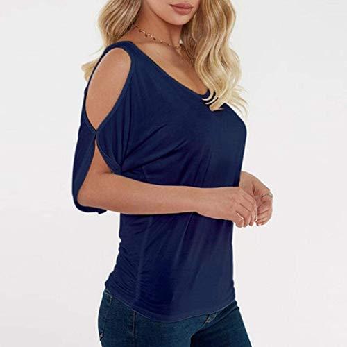 Fit Col Tops Shirts Tunique Manches Vintage Mode Hipster Mode Z Femme Jeune Et Slim lgant T Motif Schwarz Rond Blouse Courtes Festives Fleur Haut TwdzFOqqx
