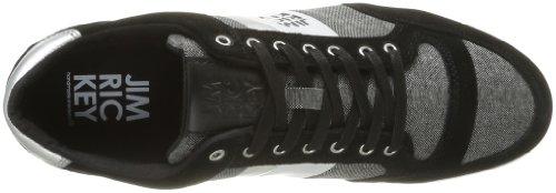 Jim Rickey Carve Lo Cotton Tweed - Zapatillas de Deporte de cuero nobuck hombre negro - Noir (Black)