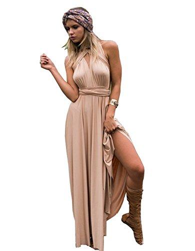Party Multi Soirée Champagne Robe Maxi style Manches Sans Hosaire Pour Bandage Femmes xPwnqTvvz6