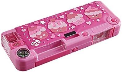 Tinc Mallo Character Pop Out Estuche Rosa | Compartimento desplegable con botón de presión | Incluye lápiz con goma de borrar, bolígrafo y regla de 15 cm | 3 compartimentos | Para la escuela: Amazon.es: Hogar