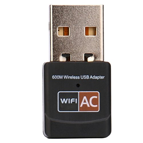 Mchoice 600Mbps Dual Band 2.4Ghz 5Ghz USB WiFi Dongle AC600 Wireless Lan Network Adapter