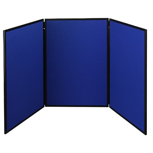 Quartet Show-It! 3-Panel Display System, 6 x 3 Feet, Double-sided, Blue/Gray (SB93513Q)