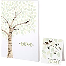 Lillian Rose GA550 WT Alternative Signing Tree Canvas, Multicolor