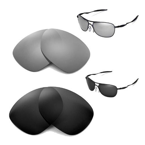 New Walleva Polarized Titanium+Black Replacement Lenses F...