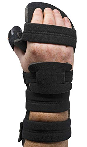 Stroke Hand Splint- Soft Resting Hand Splint for Flexion Contractures, Comfortably Stretch and Rest Hands for Long Term Ease with Functional Hand Splint, an American Heritage Industries(Right, Medium) by American Heritage Industries (Image #1)