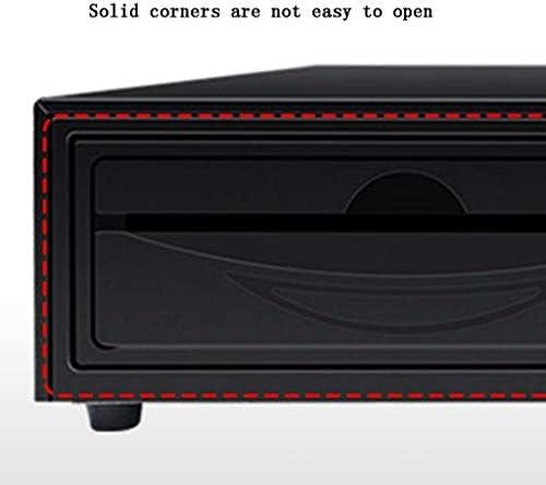 パーツボックス 安全な5つの別々の現金引き出しベッドルームと引き出し、安全なストレージジュエリーウォッチスーパーマーケットレジ使用商業レジ (Color : A, Size : 41*40.5*11cm)