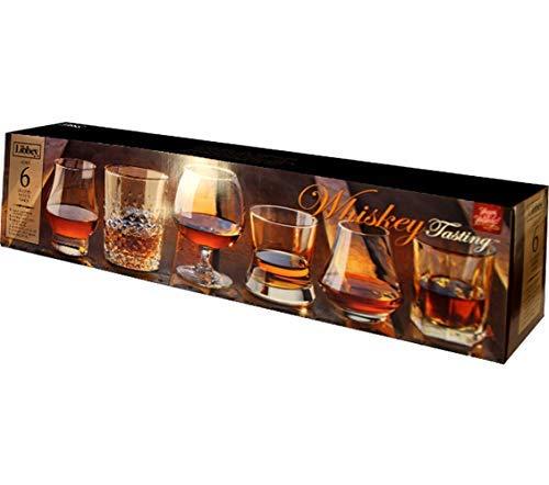 Libbey Whiskey - Libbey Whiskey Tasting Glasses, Assortment Set of 6