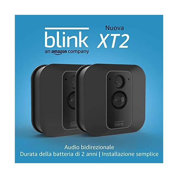 Blink XT2 (Seconda Generazione) | Telecamera di sicurezza per interni/esterni con archiviazione sul cloud, audio… 1 spesavip