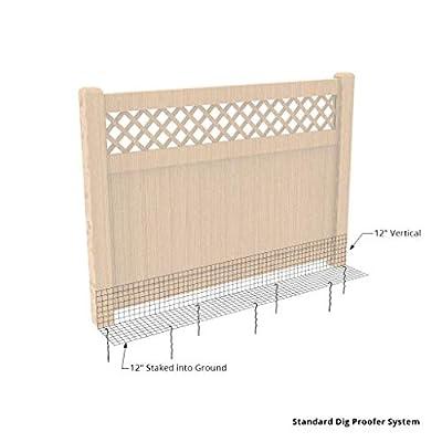 Dig Proofer Kit for Preventing Digging Under Fence