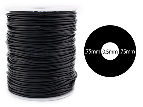 "UPC 634972121946, CleverDelights Black Hollow Rubber Tubing - 30 Feet - 2mm Diameter Tube Cord - 1/16"" OD x 1/64"" ID"