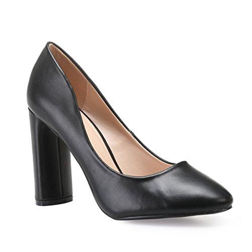 Mujer La Vestir Zapatos Modeuse 47609 Sintético Negro De qcqTY4U