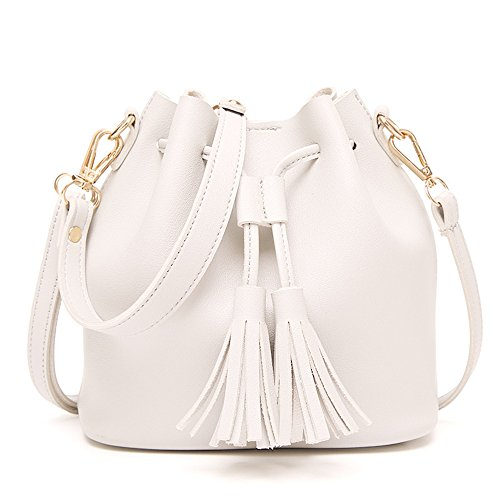 Hobos Bag Handbag Bags Tassel Satchel Women Buckets Shoulder Tote Crossbody Messenger White wqvBpFXv