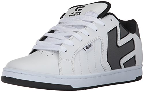 Etnies Men's Fader 2 Skate Shoe, White/Grey/Black, 11 Medium US