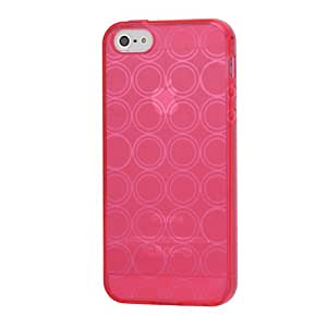 iProtect TPU carcasa iPhone 5/5S con círculos de color rosa