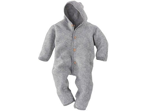 Organic Fleece (Engel Merino Wool Organic Fleece Baby Newborn Romper Hooded Footed (12-24 Mon, Light Grey))