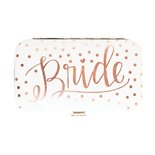 Mary Square 22997 Bride Polka-Dot Manicure Set, Rose Gold, 3