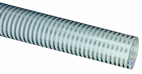 Tigerflex H100X100 H Series Standard Duty PVC Suction Hose, 85 PSI Max Pressure, 1 inches ID, 100 feet Length by Tigerflex