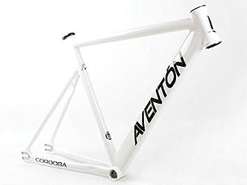 Aventon marco Pista Fijación fijo Cordoba blanco aluminio Talla 52 ...
