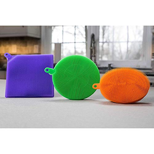 New! As Seen On TV Silicone Mildew-Free Sponges (Pack of 3)