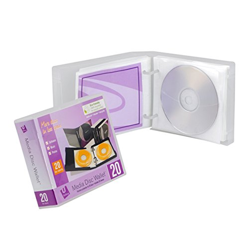 Unikeep Cd / Dvd - UniKeep Disc 20 CD/DVD Wallet (Clear) with Pages - Pack of 3