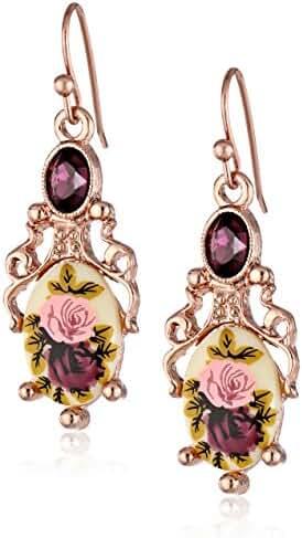 1928 Jewelry Manor House Filigree Drop Earrings