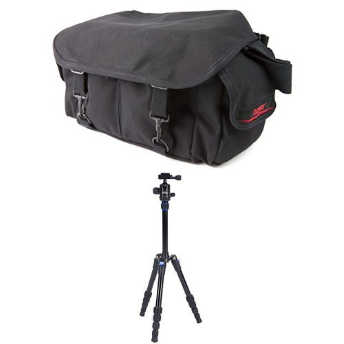 (Domke F-2 Original Bag (Black) w/Davis & Sanford TR553-P228 Traverse Super Compact Tripod with Ball Head )