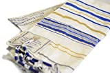 Messianic Tallit Prayer Shawl Talit Blue And Gold With Talis Bag