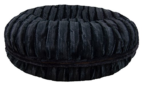 BESSIE AND BARNIE Signature Black Puma Extra Plush Faux Fur Bagel Pet/Dog Bed (Multiple Sizes) Review