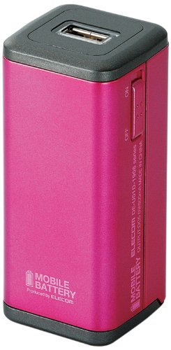 ELECOM エレコム iPhone6 iPhone6 Plus 対応 スマートフォン各種対応 モバイルバッテリー 単3形乾電池式 ピンク DE-U01D-1908PN