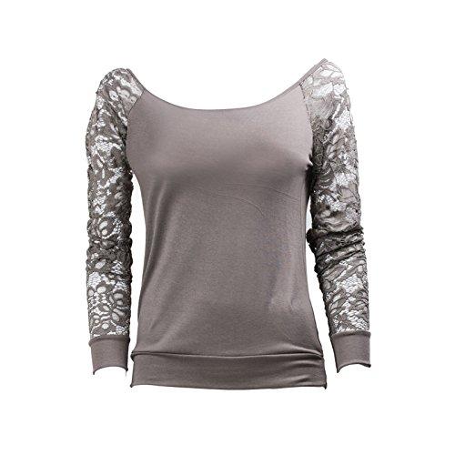 Toocool - Camiseta de manga larga - para mujer Fango