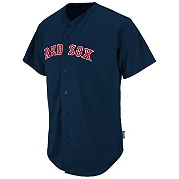 sports shoes 05944 cecaf Majestic Authentic Sports Shop Boston Red Sox Full-Button Custom or Blank  Back Major League Baseball Cool-Base Replica MLB Jersey