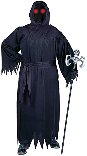 Fun World Men's Unknown Phantom Fade In Out Costume, Black, Plus (Fade In Fade Out Phantom Costume)
