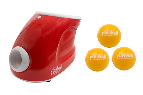 Playball Automatic Ball Launcher & Thrower For Dogs - Indoor/Outdoor Use. Throwing Distance Settings + 3 Balls Included with our Automatic Dog Ball Launcher by Couch Potato