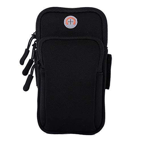 (DishyKooker Unisex Universal Waterproof Mobile Phone Arm Bag Sport Running Pouch ( Black ))