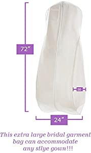white wedding gown travel storage garment bag by bags for less breathable. Black Bedroom Furniture Sets. Home Design Ideas