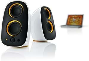 Philips SPA3210/10 Philips Altavoces multimedia 2.0 (blanco con naranja)