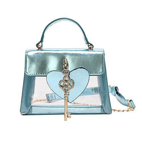 Bleu À Blue Nouvelle Main Transparente Sac Lady Chaîne GWQGZ 0Xxqw88