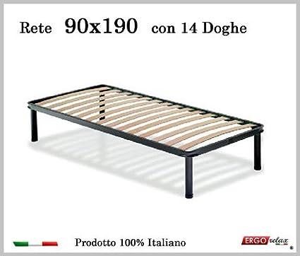Rete per materasso a 14 doghe in faggio VIENNA. 100% Made in Italy - 80 cm x 190 cm Ergorelax