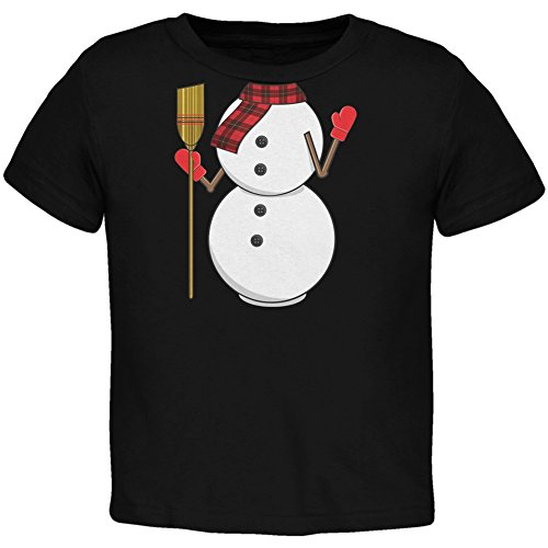 [Snowman Body Costume Black Toddler T-Shirt - 2T] (The Music Man Costumes For Sale)