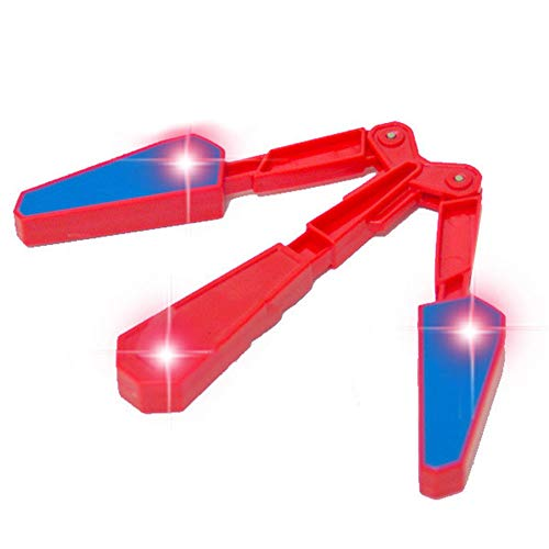 LED Finger Flip Finz Rotate Plastic Butterfly Knife Color Decompression Toy Children's Interactive Toy