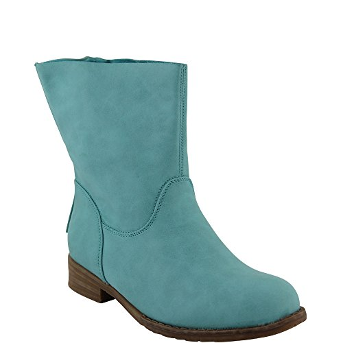 Unbekannt - botas estilo motero Mujer Azul