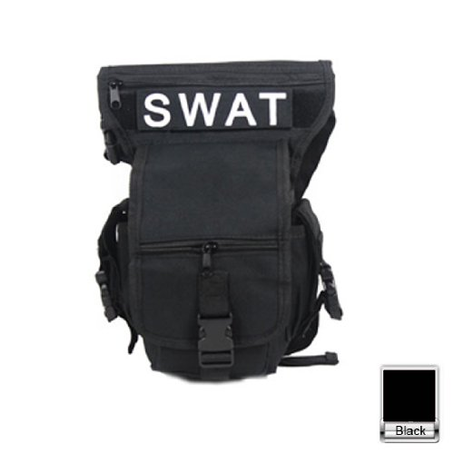 HuntGold New Multifunction SWAT Useful Drop Leg Utility Waist Pouch Carrier Belt Bag Pack(black)