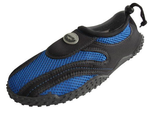 Mens Waterproof Wave Water Shoes (Royal/Black, Size 7)